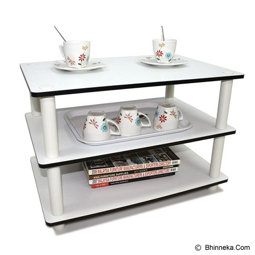 FUNIKA 3 Tier Cofee Table [11173] - White - Meja Ruang Tamu